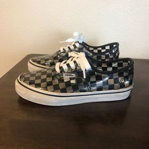 Vans classic check see through low top sneakers